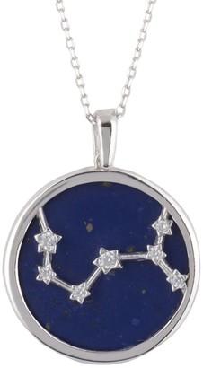 Latelita Zodiac Lapis Lazuli Gemstone Star Constellation Pendant Necklace Silver Scorpio