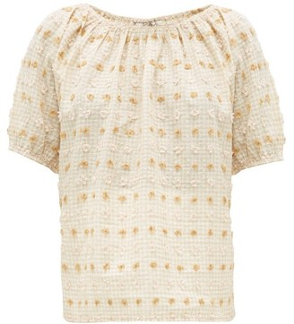 Ace&Jig Gelato Fil-coupe Gingham Cotton-blend Top - Womens - Beige Multi