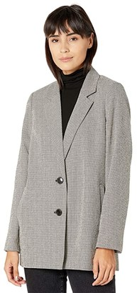 Madewell Dorset Blazer in Herringbone (Tiny Tooth Coal) Women's Coat