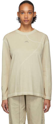 A-Cold-Wall* A Cold Wall* Taupe Core Mesh Logo Long Sleeve T-Shirt