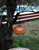 Bover Garota Hang Outdoor Pendant Light - Graphite Brown / Brown shade