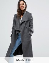 Asos Waterfall Trapeze Coat in Wool Blend