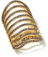 Rarities: Fine Jewelry with Carol Brodie .80ctw Champagne Diamond Multirow Vermeil Knuckle Ring