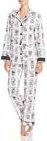 PJ Salvage Yearbook Dog Flannel Pajama Set
