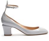 Valentino Tan-Go block-heel leather pumps