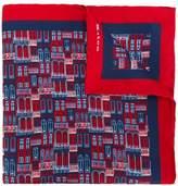 Kiton windows print scarf