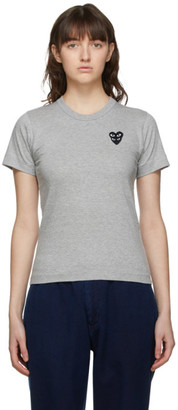 Comme des Garcons Grey Layered Heart T-Shirt