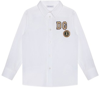 Dolce & Gabbana Kids Cotton Embroidered Shirt (8-12 Years)