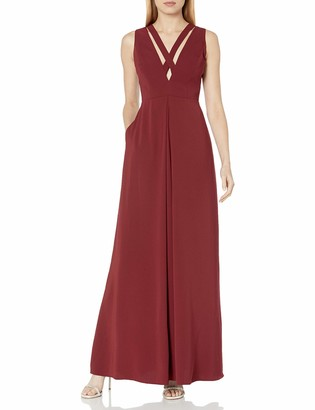 Jill Stuart Jill Women's Deep-V Criss Cross Gown