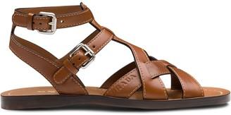 Prada Flat Gladiator Sandals