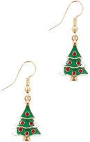 Yours Clothing Multi Christmas Tree Novelty Dangle Earrings