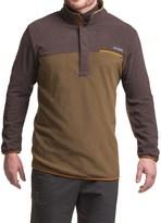 Columbia Mountain Side Fleece Shirt - Snap Neck, Long Sleeve (For Big Men)