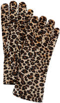 Cejon Animal-Print Velvet Gloves