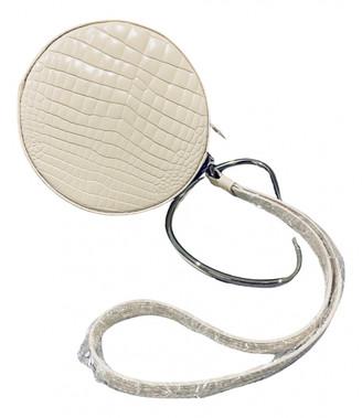 Gu_de White Leather Handbags
