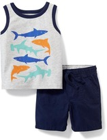 Old Navy 2-Piece Graphic Tank and Shorts Set for Baby