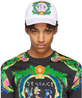 Versace White Embroidered New Signature Cap