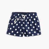 J.Crew Girls' pull-on short in polka dot