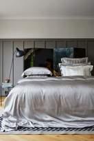 House of Fraser Gingerlily Silver Grey Silk King Flat Sheet