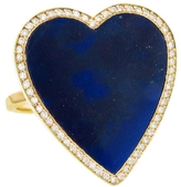 Jennifer Meyer Diamond and Lapis Inlay Heart Ring