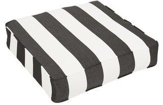 Rosecliff Heights Indoor/Outdoor Sunbrella Dining Chair Cushion Fabric: Black/White, Size: 22.5'' W x 22.5'' D