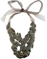 Vera Wang Crystal & Bead Bib Necklace
