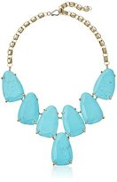 "Kendra Scott Signature"" Harlow Gold plated Turquoise Magnesite Statement Necklace, 20"""