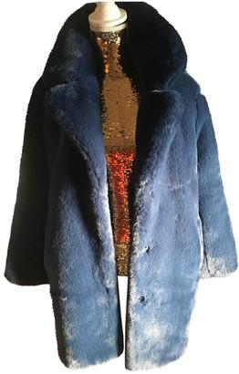 MKT Studio Blue Faux fur Coats