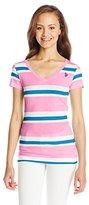 U.S. Polo Assn. Junior's V-Neck Striped T-Shirt