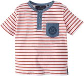Buffalo Nictus Stripe Pocket Tee (Kid) - Redwood-5