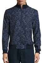 Michael Kors Palm Printed Bomber Jacket