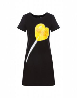 Love Moschino Short Dress Lollipop Woman Black Size 38 It - (4 Us)