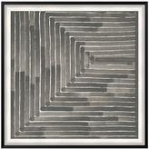 Pottery Barn Neutral Labyrinth Framed Print
