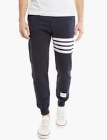 Thom Browne Navy Cotton Sweatpants