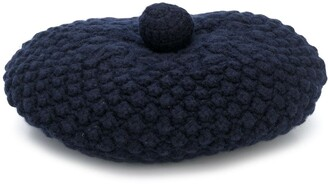 N.Peal knitted beret hat