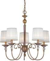 Eurofase Locksley Collection 5-Light Antique Bronze Chandelier