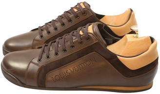 Louis Vuitton Clipper Brown Leather Trainers