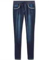 Vanilla Star Metallic-Trim Skinny Jeans, Big Girls (7-16)
