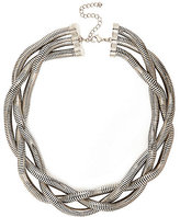 River Island Womens Silver tone chunky twisted necklace