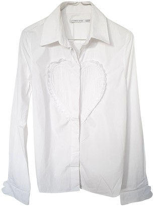 Viktor & Rolf By H&m White Cotton Top for Women