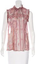 Zimmermann Paisley Print Sleeveless Top