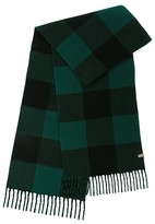 Mackage Langevin Unisex Chequer Patterned Scarf In Pine