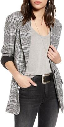 Treasure & Bond Oversize Patterned Blazer