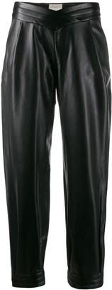Giuseppe Di Morabito leather look trousers