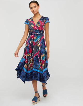 Under Armour Grace Contrast Floral Print Dress in LENZING ECOVERO Blue