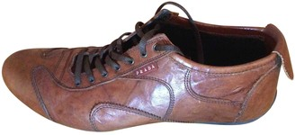 Prada Brown Leather Trainers