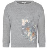 Chloé ChloeGirls Grey Leopard Sweater