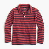 J.Crew Boys' medium striped long-sleeve polo