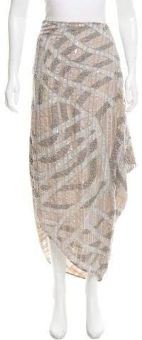 Giorgio Armani Embellished Asymmetrical Midi Skirt