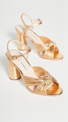 Loeffler Randall Cece High Heel Knot Ankle Strap Sandals