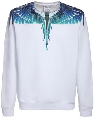 Marcelo Burlon County of Milan Wings Print Cotton Jersey Sweatshirt